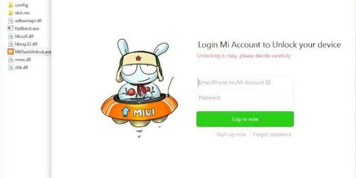 Вводим логин и пароль от Ми-аккаунта