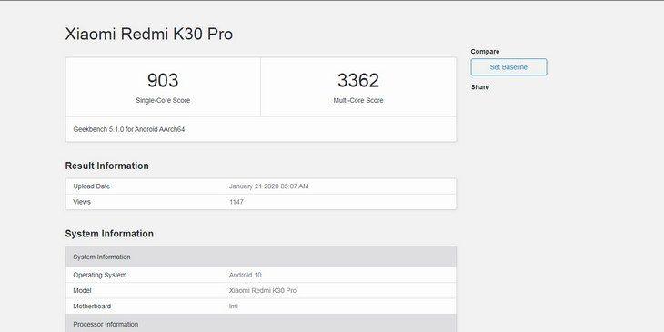 Модифированный Redmi K30 Pro от Xiaomi